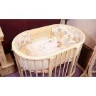 Комплект в овальную кроватку Incanto Совушки (6 предметов) 125*75 см