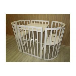 Кроватка трансформер 7в1 Mika Polly (75x75см/125х75см)