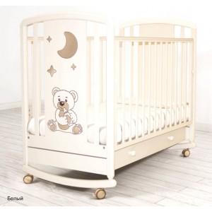 Детская кроватка Angela Bella Жаклин (колесо-качалка)