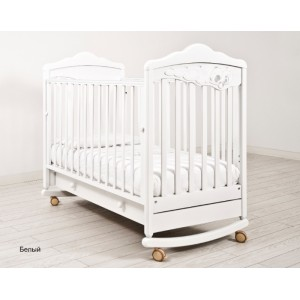 Детская кроватка Angela Bella Изабель (колесо-качалка)
