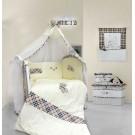 Комплект в кроватку L'abeille Burberry (7 предметов)