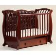 Детская кроватка Кубаньлесстрой (Лель) БИ 555.3 Магнолия (маятник продольный) с декоративной панелью