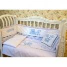 Комплект в кроватку Кубаньлесстрой (Лель) Нежный горошек (7 предметов)