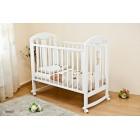 Детская кроватка Можга (Красная звезда) Вилона С-703 декор Жираф (колесо-качалка)