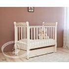 Детская кроватка Можга (Красная звезда) Артем С-579 П декор №6 Пальметта (маятник продольный)