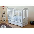 Детская кроватка Можга (Красная звезда) Виталина С-853 декор Мама (маятник поперечный)
