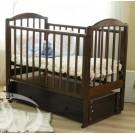 Детская кроватка Можга (Красная звезда) Регина С-580 декор №23 Бабочки (маятник продольный)