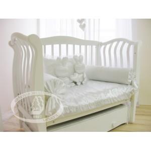 Детская кроватка Можга (Красная звезда) Аэлита С-888 резьба №10 Птички (маятник поперечный)