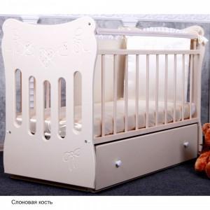 Детская комната Островок Уюта Бантики (кроватка и комод)