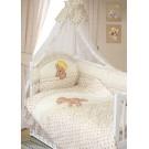 Комплект в кроватку Золотой Гусь Мишка-царь (8 предметов)